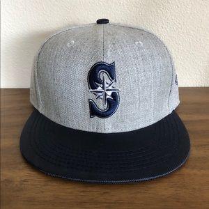 Seattle Mariners SnapBack Flat Bill Hat ~NEW!!!